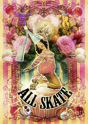 Clown Photograph - All Skate by Aimee Stewart