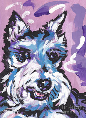 Miniature Schnauzer Painting - All Smiles Schnau by Lea S