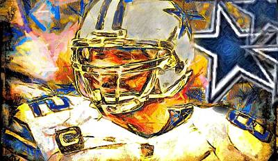 Digital Art - All Star Witten by Carrie OBrien Sibley
