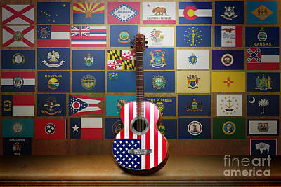 All State Flags Print by Bedros Awak