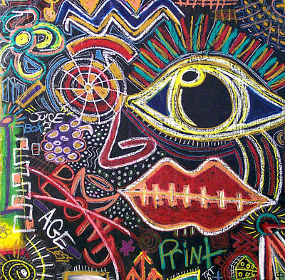 Popstract Digital Art - All That Is Left by Kamoni Khem