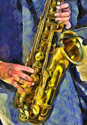 Inspired By Van Gogh Wall Art - Painting - All That Jazz  by L Wright