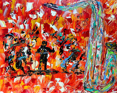 Pallet Knife Painting - All That Jazz  by Mark Moore