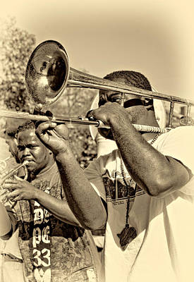 Artist Photograph - All That Jazz Sepia by Steve Harrington