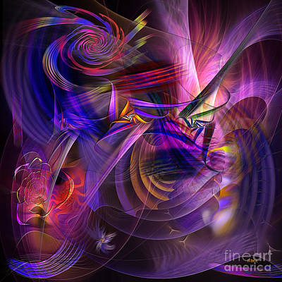 Digital Art - All That Jazz - Square Version by John Beck