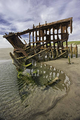 Peter Iredale Photograph - All That Remains by Sara Hudock