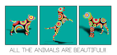 Labrador Digital Art - All The Animal Are Beautiful  by Mark Ashkenazi