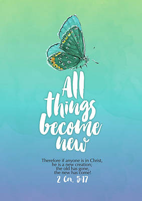 Bible Verse Painting - All Things by Tammy Apple