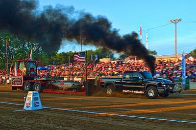 Photograph - All Too Risky Pulling Truck by Tim McCullough