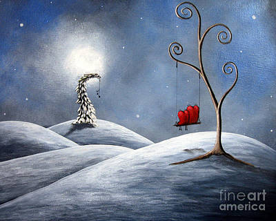 Fantasy Tree Art Painting - All We Need For Christmas By Shawna Erback by Shawna Erback