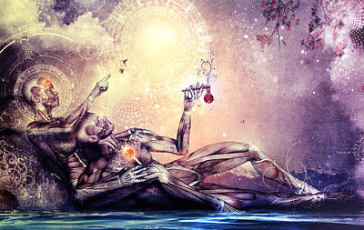 Visionary Digital Art - All We Want To Be Are Dreamers by Cameron Gray