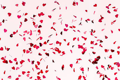 Pink Confetti Photograph - All You Need Is Love - Featured 3 by Alexander Senin