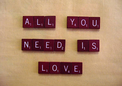 Mixed Media - All You Need Is Love by Robie Benve