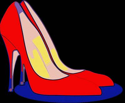 Painting - All You Need Is Red Pumps by Florian Rodarte