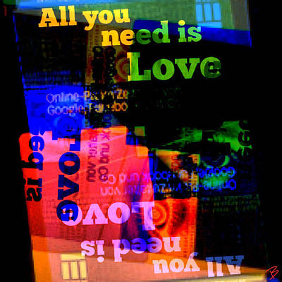 Pop Art Photograph - All You Need... by Barbs Popart