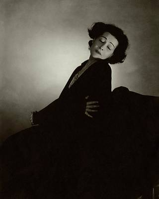 Mid Eastern Woman Photograph - Alla Nazimova With Her Eyes Closed by Edward Steichen