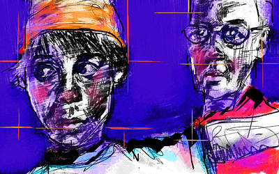 Digital Art - Allan And Son by Jim Vance