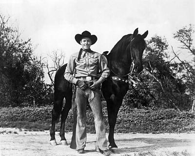 Working Cowboy Photograph - Allan Rocky Lane by Underwood Archives