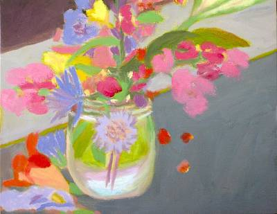 Water Jars Painting - Alleghany Mason Jar by Molly Fisk