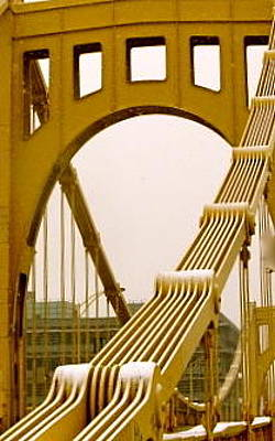 Photograph - Allegheny Bridge Up Close by LeLa Becker