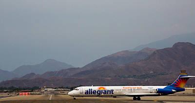 Allegiant At Palm Springs Airport Art Print