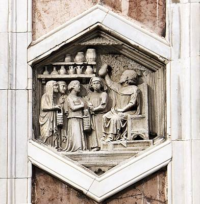 Reliefs Photograph - Allegorical Depiction Of Medicin by Sheila Terry