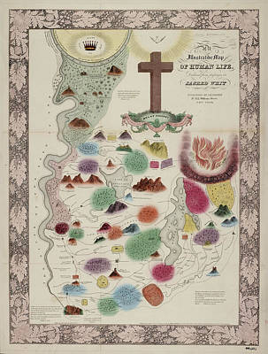 Allegorical Mapping Of Life Art Print