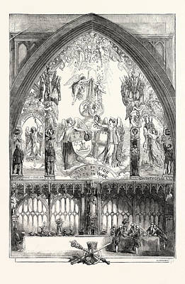 Painted Image Drawing - Allegorical Picture Painted For The Inauguration Dinner by Absolon, John (1815-95) And Fenton, English