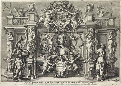Allegorical Portrait Of Leopold Willem Art Print