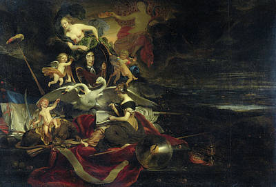 Allegorical Representation Of The Expedition To Chatham Art Print