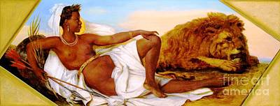 Dubois Painting - Allegories Of The Continents - Africa by Pg Reproductions