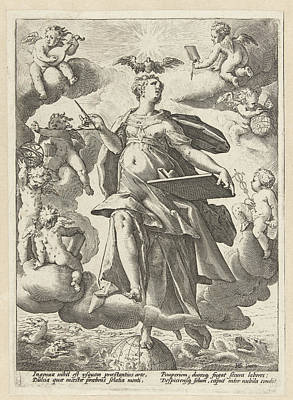 Liberal Drawing - Allegory Of Art, Hendrick Goltzius by Hendrick Goltzius