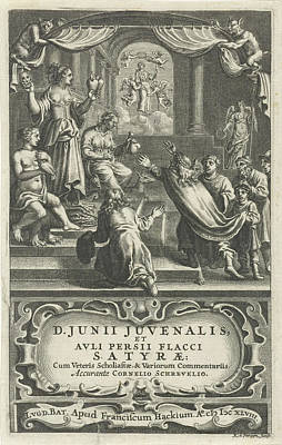 Burning Heart Wall Art - Drawing - Allegory Of Conflict, Print Maker Reinier Van Persijn by Reinier Van Persijn And Franciscus Hackius