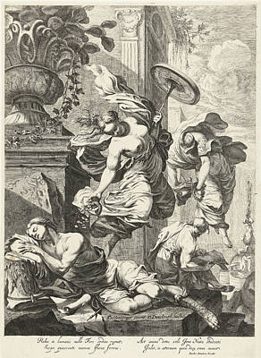 Wheel Thrown Drawing - Allegory Of Fortuna And Science, Dancker Danckerts by Dancker Danckerts