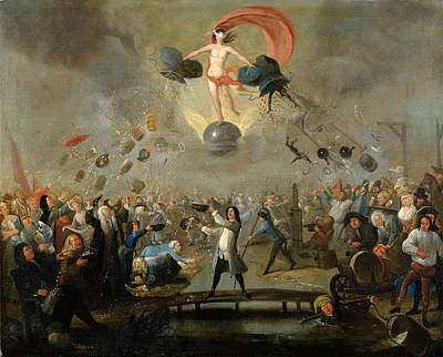 Allegory Of Fortune, Balthazar Nebot, Active 1730-1762 Art Print