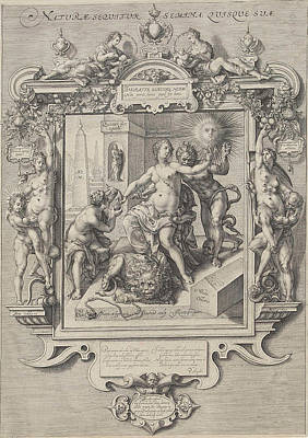 Allegory Of Human Nature, Print Maker Jan Saenredam Print by Jan Saenredam And Cornelis Ketel And Petrus Hogerbeets