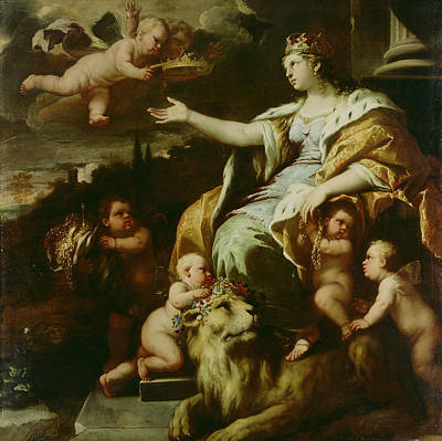 Painting - Allegory Of Magnanimity by Luca Giordano