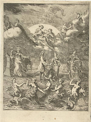 Burning Heart Wall Art - Drawing - Allegory Of Marriage, Pieter Van Den Berge by Pieter Van Den Berge