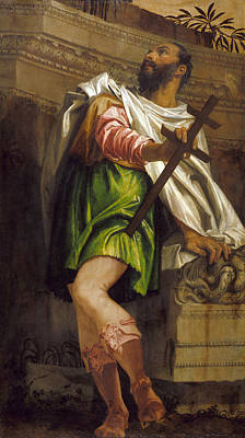 Allegory Of Navigation With A Cross-staff. Averroes Art Print by Paolo Veronese