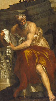 Allegory Of Navigation With An Astrolabe. Ptolemy Print by Paolo Veronese