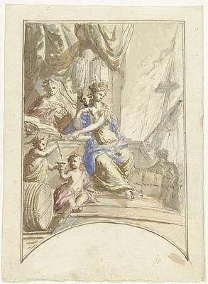 Allegory Of Seaborne Trade, Elias Van Nijmegen Art Print