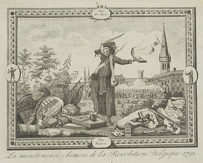 Allegory Of The Brabant Revolution, 1791 Print by Anonymous