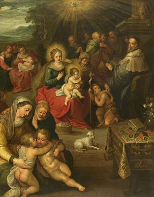 Lamb Of God Painting - Allegory Of The Christ Child As The Lamb Of God by Frans Francken