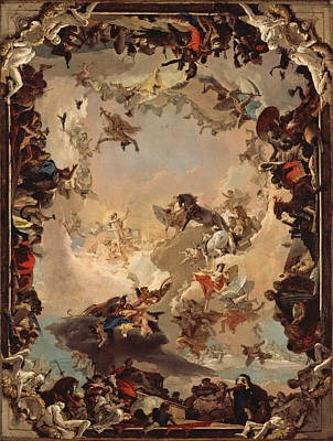 Giovanni Battista Tiepolo Painting - Allegory Of The Planets And Continents by Giovanni Battista Tiepolo