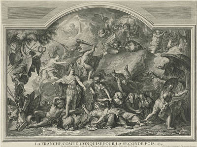 Allegory Of The Reconquest Of Franche-comt Art Print by Litz Collection