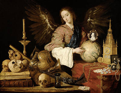 Allegory Of Vanity Art Print by Antonio de Pereda