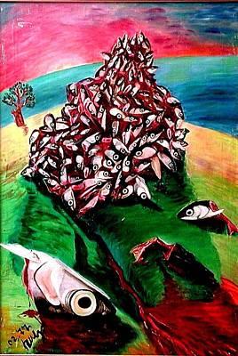 Allegory On Russia Art Print by Vladimir A Shvartsman