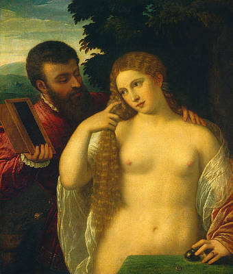 Erotica Painting - Allegory by Titian