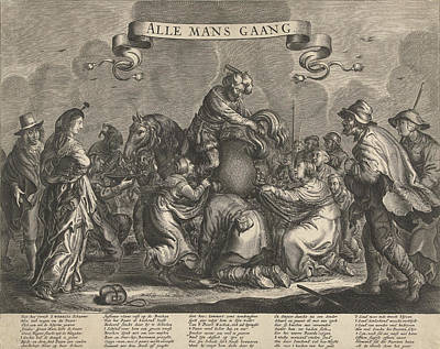 Allegory With Horse Poop Gold Pieces, Ca 1650 Art Print