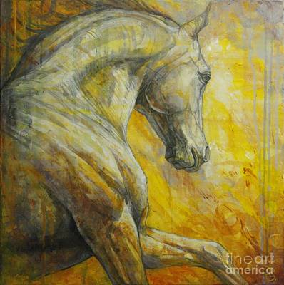 Horse Painting - Allegro by Silvana Gabudean Dobre